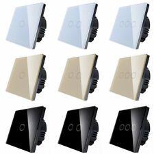 1/2/3Gang 1Way Control Panel Home Wall Light Touch Switch EU Stanard AC110-230V
