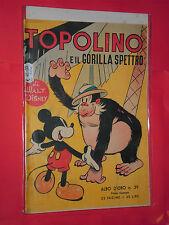 ALBO D'ORO-TOPOLINO n° 39-b-DEL 1951-gorilla spettro-DA LIRE 40-mondadori-disney