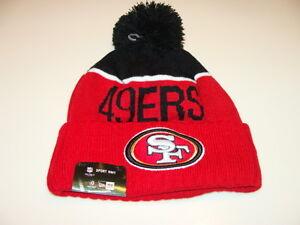 San Francisco 49ers Knit On Field New Era Toque Beanie Player Sideline Hat Cap