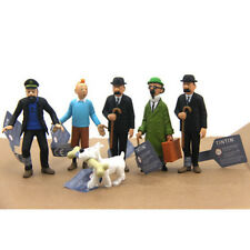 The Adventures of Tintin PVC Figure Figurine Home Oranment 6pcs
