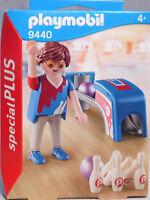 Playmobil Special Plus 9440 Bowing-Spieler Bowler 2 Bowling-Kugel 6 Kegel  NEU