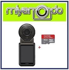 Casio Exilim FR100 Action Camera + Sandisk Ultra microSD 16GB (Black)