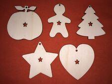 100 pcs CHRISTMAS set n2 & star DESIGN EMBELLISHMENTS WOODEN HANGING CRAFT SHAPE