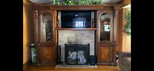 Lighted tv entertainment center wall unit