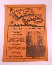 Best Songs Music Magazine 1963 Vintage Classic Collectible
