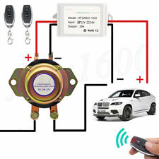 Anti-Theft Car Battery Power Cut Control Main Kill Switch Immobilizer +2x Remote
