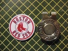 GOLF / Boston Red Sox Logo Golf Ball Marker/with Magnet Hat Clip New!
