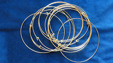 "Necklace Choker 2mm Bright Hamilton Gold color Plated 5"" around (pkg 12) 0459"