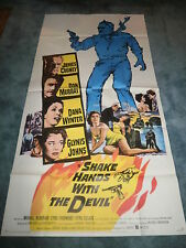 SHAKE HANDS WITH THE DEVIL(1959)JAMES CAGNEY ORIGINAL 3 SHEET POSTER