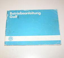 Betriebsanleitung VW Golf II Benziner / Diesel - Stand 1985!
