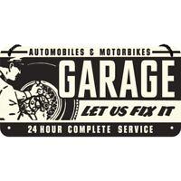 Garage Officina Targa di Latta Segno D'Attaccatura 20 cm Metallo Scudo