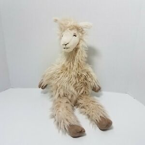 Jellycat England Luis The Tan Shaggy Llama Plush Stuffed Animal Toy 18 Inches