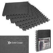 Gold Coast 6 Floor Gym Mat Interlocking Exercise Floor Tiles 24 sq ft EVA Foam