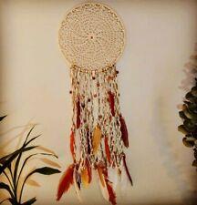 Peacock Feathers Handmade Dreamcatcher Craft Dream Catcher Net Home Decor #S5