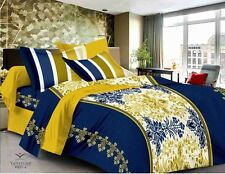 Valtellina Pure Cotton King Size 1 double Bedsheet with 2 pillow Covers TR_LV-01