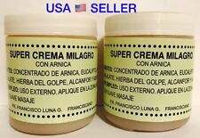 2 NEW SUPER CREMA MILAGRO CRAMPS BRUISES ARTHRITIS MIRACLE OINTMENT CON ARNICA