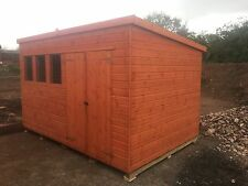 12x8 PENT, HEAVY DUTY WOODEN SHED, GARDEN BUILDING. FREE FITTING!!!