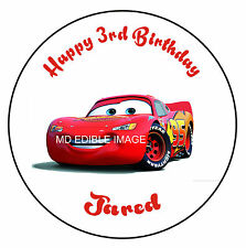 Lightning McQueen Edible Icing  Image Cake Birthday Party Topper Personalised