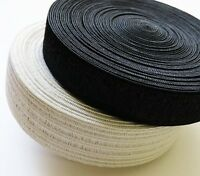 Peterstretch Style Non Roll Waist-banding Elastic Black/White 25mm or 30mm Wide