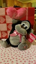"""NWT Valentine's Day Animated Musical """"Higher Love"""" Plush Monkey - Heart Lifter"""