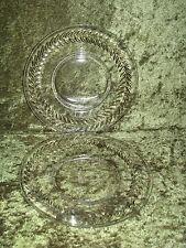 Tiffin Franciscan Simplicity Crystal Luncheon Plates Set of 2