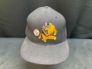 VINTAGE 1990's NEW ERA 59FIFTY BRAND FRESNO GRIZZLIES FITTED 7 1/2 HAT CAP MILB