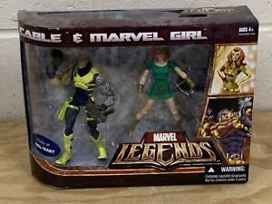 Hasbro Marvel Legends Cable and Marvel Girl Wal-Mart Exclusive, NIB