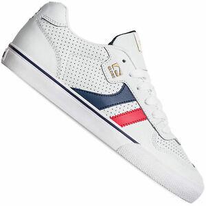 Globe Encore 2 Baskets pour Hommes Blanc/Bleu/Rouge Chaussures de Skate Sport