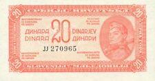 Yugoslavia P-51c 20 dinara 1944 UNC