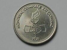 Montreal CANADA 1976 Olympics Medal Token Coin Olympiade Flag & Earth Globe Maps