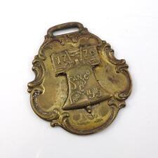 Vtg Antique San Francisco 1915 Ppie World's Fair Watch Fob Medal Qyk4