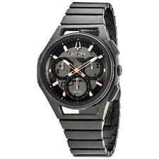 Bulova CURV Chronograph Quartz Black Dial Men's Watch 98A207