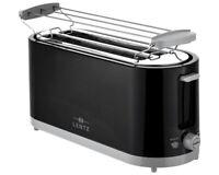LENTZ Langschlitztoaster 4-Scheiben Toaster Toastautomat Brötchen-Aufsatz