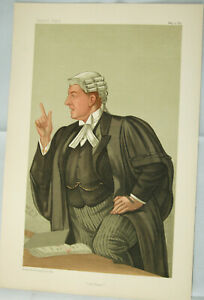 "Original VANITY FAIR Legal PRINT: ""Gill Brass"" - Sir Charles F. Gill by SPY 1891"