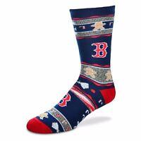 Boston red Sox MLB For Bare Feet Ugly Christmas Socks-SZ L