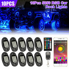 10 Pods Rgb Led Rock Lights Offroad Atv Underbody Wireless Music Bluetooth App