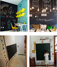 Intbuying Blackboard Sticker Removable Blackboard Sticker with 5 Chalks Study