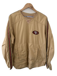 San Francisco 49ers Custom Golden Nike NFL Pro Line Joe Montana Windbreaker