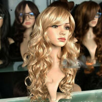 Long Curly Golden Wig Sexy Women's Cosplay Blonde Hair Wigs Christmas Party