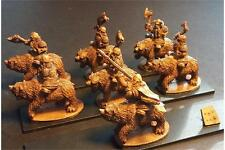 15mm Fantasy Dwarian Bear Cavalry with Axe and Shields (16 figures)