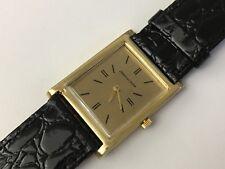 MEN 60's JAEGER-LeCOULTRE 18K SOLID GOLD TANK MODEL ** rare item **