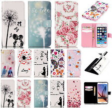 Leather Card Wallet Flip Skin Case Cover for iPhone Cell Phone Smartphone Models