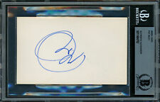 Pat Riley & Maurice Lucas Autographed 3x5 Index Card Lakers Beckett 11484762