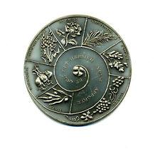 Médaille de VOEUX. En argent sterling - Composition en spirale avec 8 animaux et