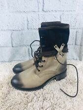 Coconuts Matisse Distressed Leather Lace Combat Boots Womens Size 6M