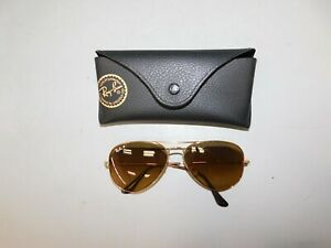 Ray Ban Gold Tone Aviator Sunglasses // 3025 0017M2 58 14 3P