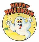 Vintage Happy Halloween Sign Die Cut Decoration Gobblin Ghost Halloween