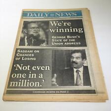 NY Daily News:Jan 30 1991, Pres Bush We're Winning, Saddam Chances of Losing