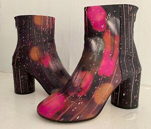 $990 MAISON MARTIN MARGIELA Raindrops Booties Boots RARE Bergdorf's +Box 38 8