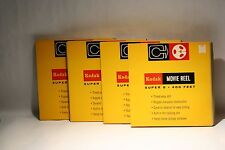 Lot of 4 Kodak Super 8 Movie Reel  400 ft New in Box